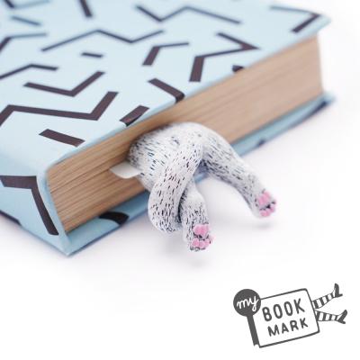 禮物myBookmark手工書籤-肉球腳丫小白貓