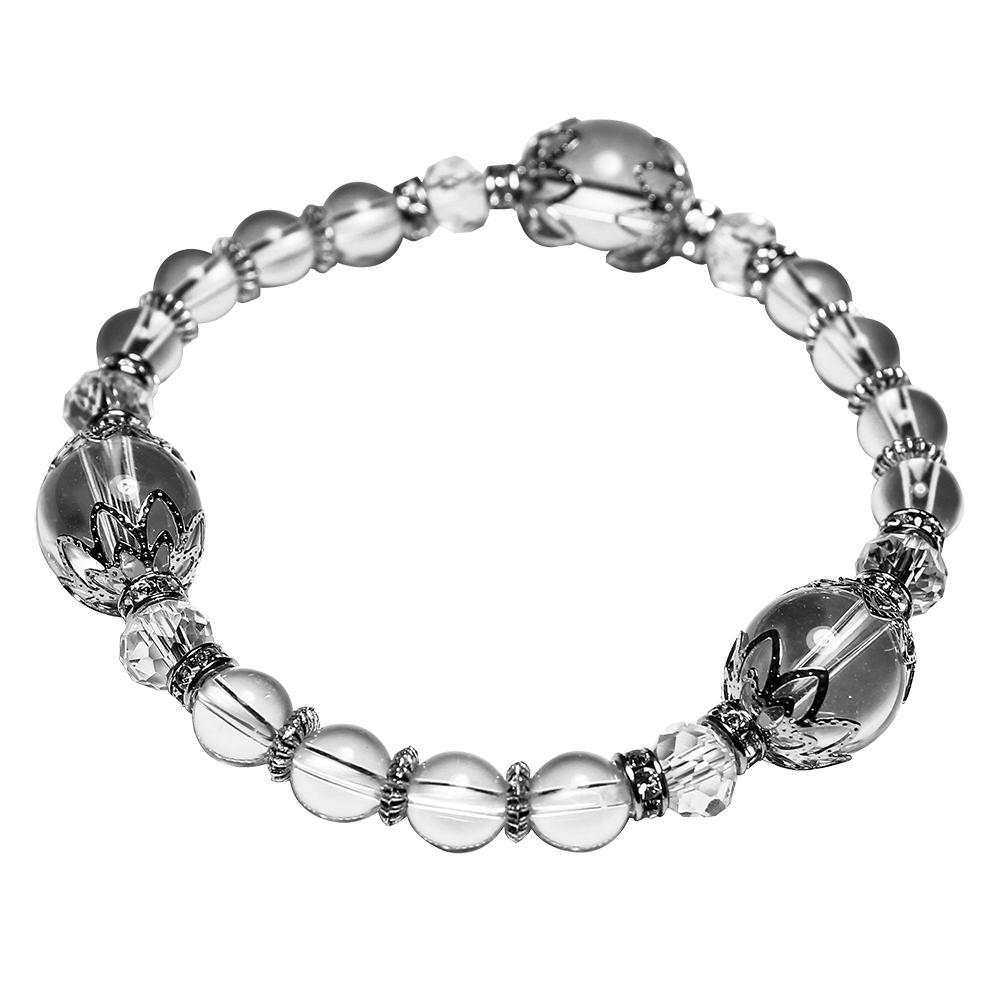 A1寶石 晶鑽化煞防小人白水晶手鍊