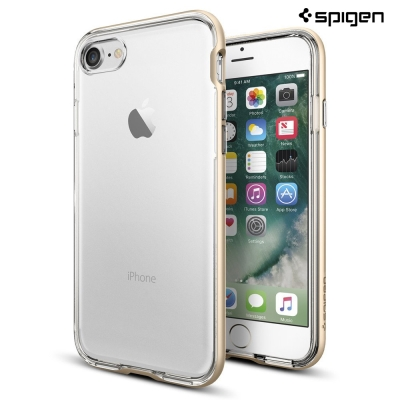 SPIGEN iPhone 7 Neo Hybrid 透明背蓋邊框手機殼