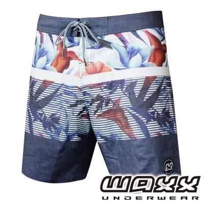 WAXX 熱帶系列-LUSH吸濕排汗男性休閒衝浪褲(18吋)