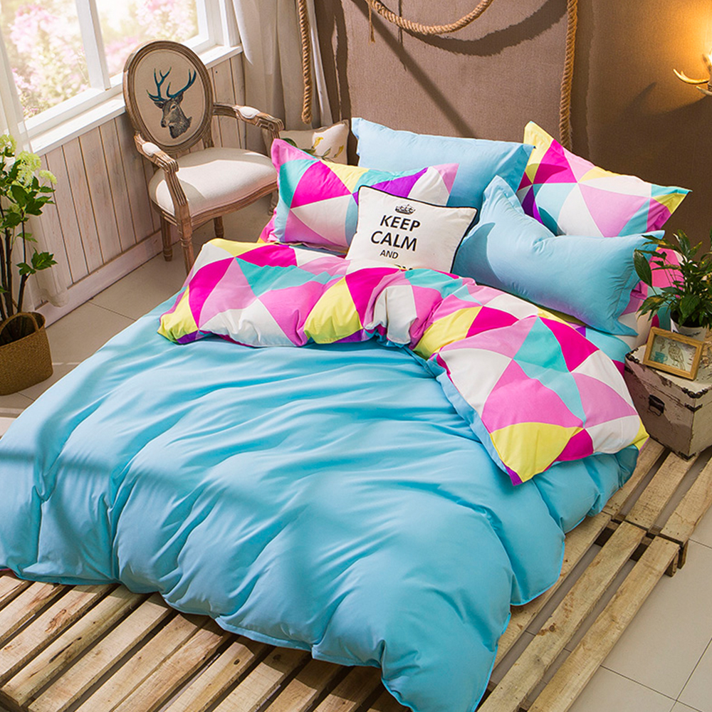 HUEI生活提案-璀璨寶石-柔絲絨-四件式被套床包組 雙人 簡單記憶
