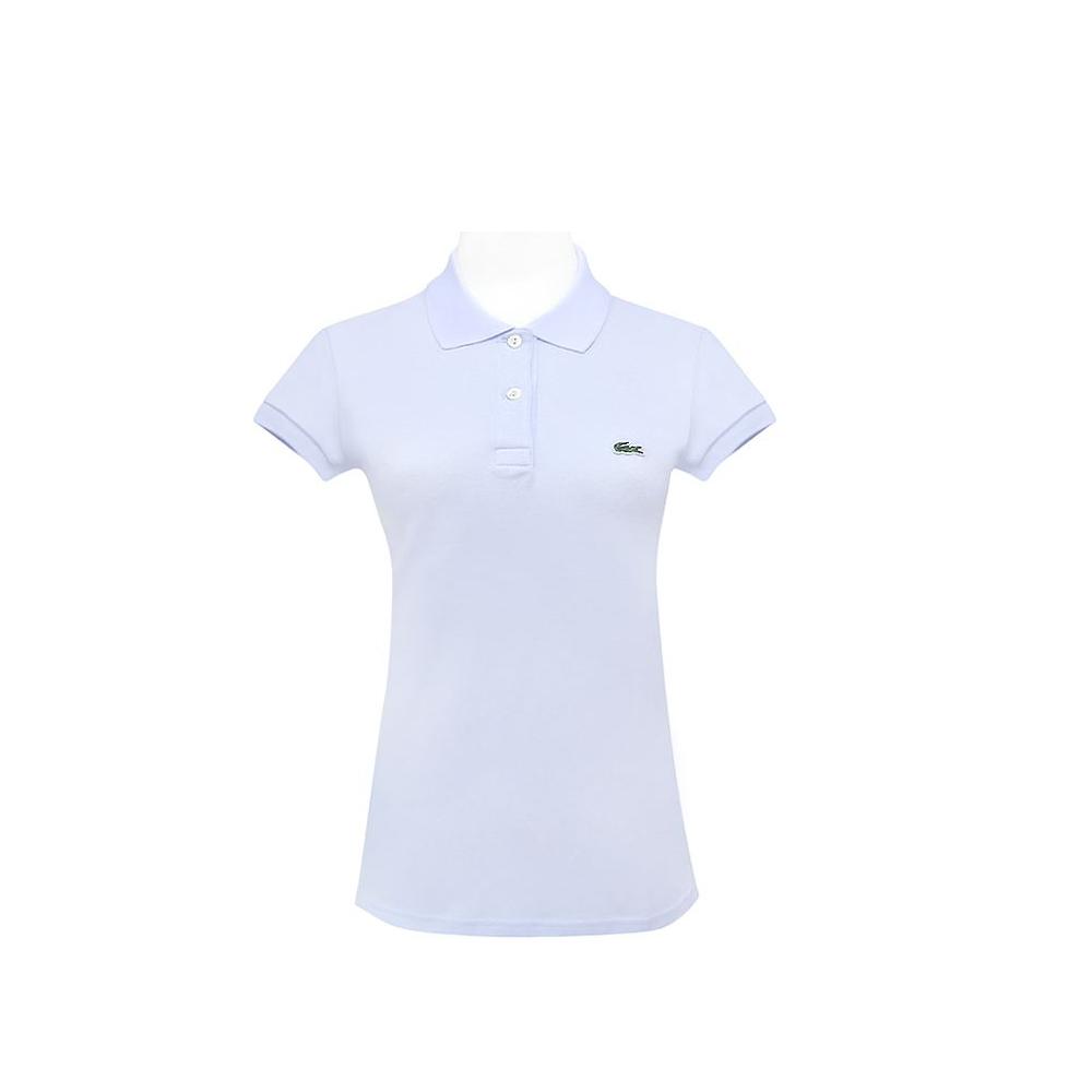 LACOSTE 淺藍色鱷魚標誌短袖POLO衫(10-12歲)