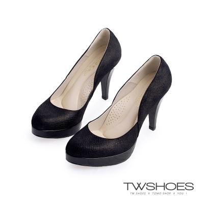 TWshoes經典素面淑女高跟鞋-黑