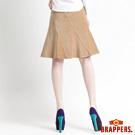 BRAPPERS 女款 女用彈性絨布魚尾裙-卡其