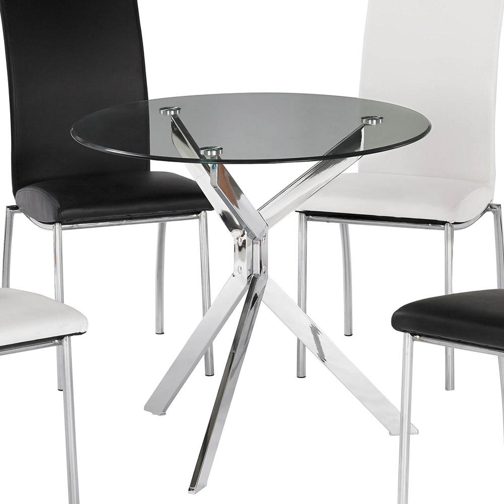 H&D 圓玻璃造型桌80CM (寬80X深80X高75cm)