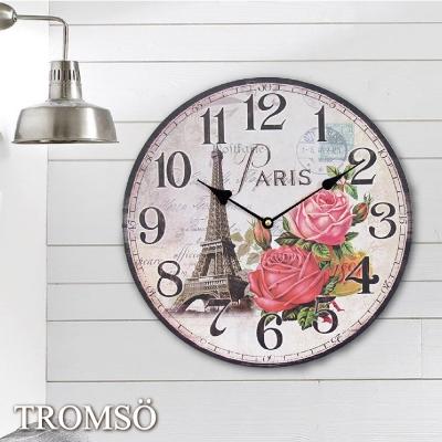 TROMSO無框畫時鐘-巴黎花都(圓形)