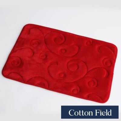 棉花田 維也娜 舒壓記憶綿吸水防滑踏墊-紅色(二件組)