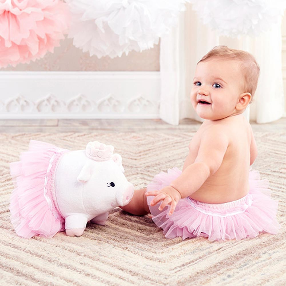 Baby Aspen 粉紅小豬娃娃包屁澎澎裙彌月禮組 @ Y!購物