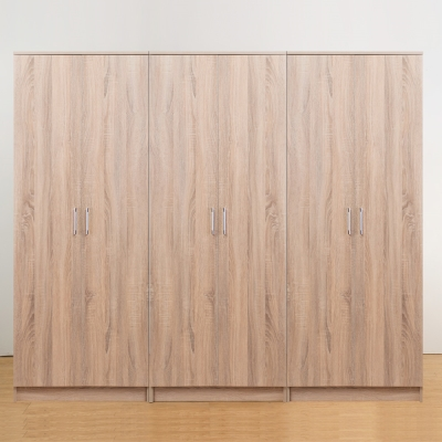 Bernice-亞諾7尺六門衣櫃(原木色)-210x51x180cm