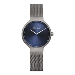BERING- MAX RENE設計師聯名款 北歐藍錶盤x灰 米蘭錶帶31mm