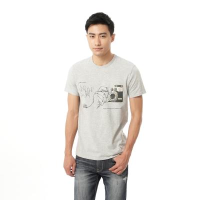 Lee 照片印刷短袖T恤/RG-男款-灰