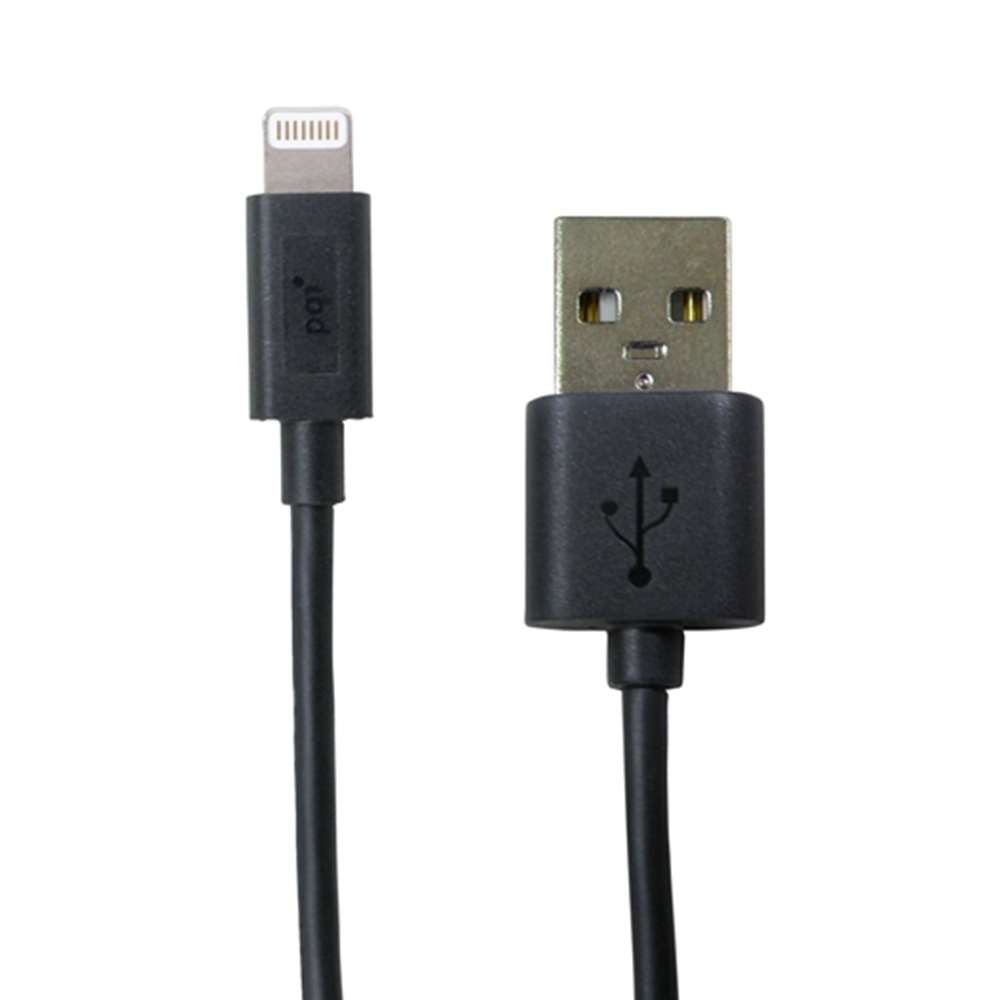 PQI i-Cable Lightning 100 傳輸充電線 黑