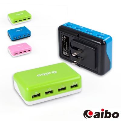 aibo AC 轉 USB 4PORT 方塊充電器 6000mA