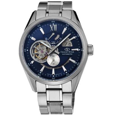 Orient Star 東方之星 天將雄師 簍空機械錶(SDK05002D)-藍/41mm