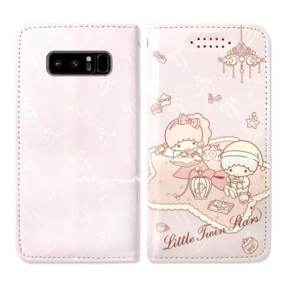 三麗鷗授權 雙子星 Samsung Note8 隱形磁力皮套(毛毯)