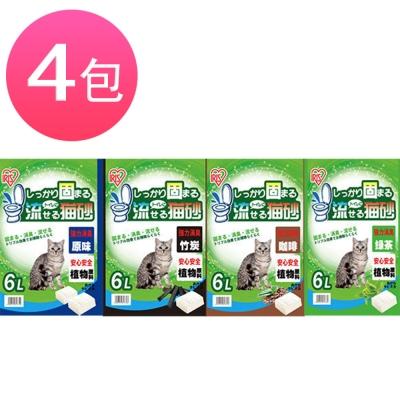 日本IRIS豆腐貓砂6L (4包組)