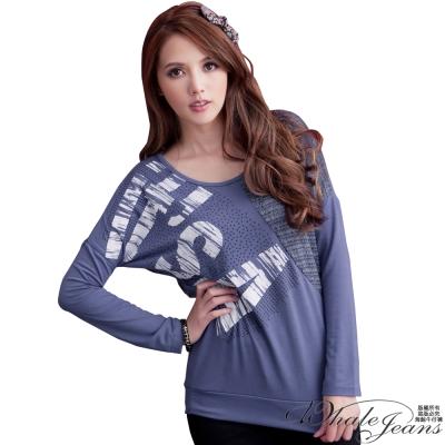 WHALE JEANS 獨特時髦首爾風針織拼棉上衣(2色)
