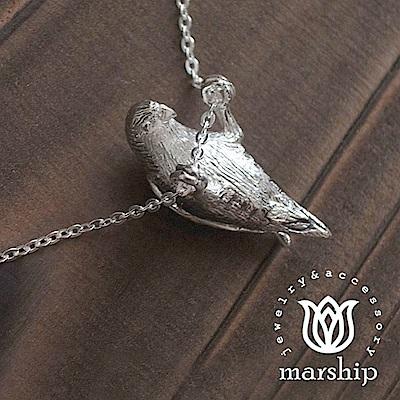 Marship 日本銀飾品牌 愛拉單槓的鸚鵡項鍊 925純銀 亮銀款