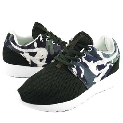【T2R】韓國T2R空氣增高鞋內增高7公分休閒女鞋-迷彩綠