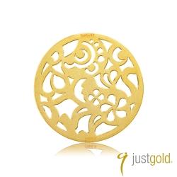 鎮金店Just Gold 金幣-花開富貴金幣(猴)