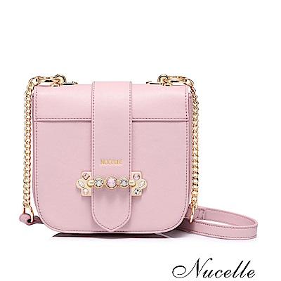 Nucelle 維也納華麗鑽飾鍊帶包 芭比粉