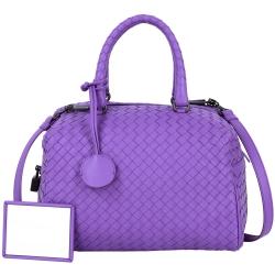 BOTTEGA VENETA ATLANTIC 小羊皮兩用方包(紫色)