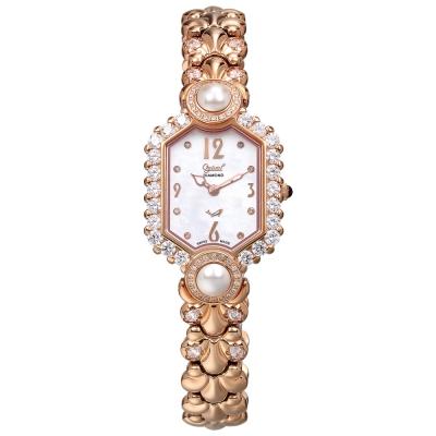 Ogival瑞士愛其華 凡爾賽宮廷珍珠璀燦真鑽錶-玫瑰金/六角/24mm