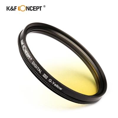 K&F Concept 超薄無暗角清晰漸變圓形濾鏡 黃色