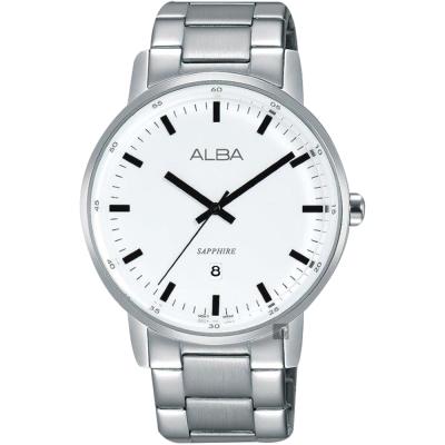 ALBA雅柏 PRESTIGE系列街頭酷流行手錶(AG8H35X1)-白/39mm
