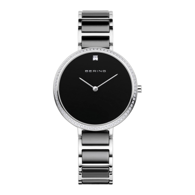 BERING-閃耀晶鑽簡單錶面陶瓷系列 藍寶石鏡面 黑白34mm