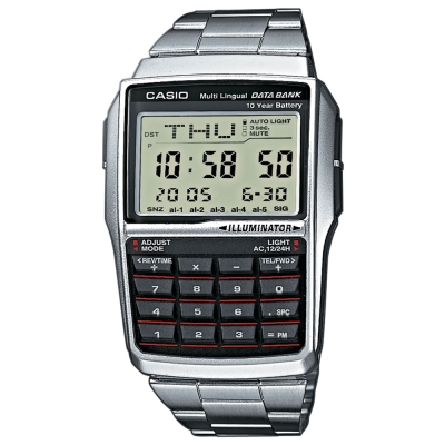 CASIO 行動祕書不鏽鋼計算機錶(DBC-32D-1A)