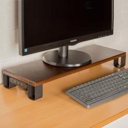 百變王防潑水USB木紋電腦螢幕架
