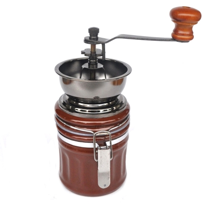 陶瓷可調式手搖咖啡豆研磨機/密封罐(ZD-CF02)