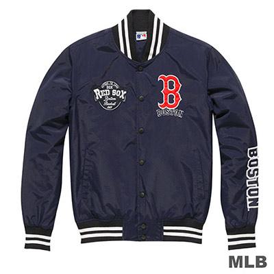 MLB-波士頓紅襪隊休閒棒球外套-深藍 (男)