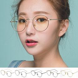 中性款文青圓框眼鏡