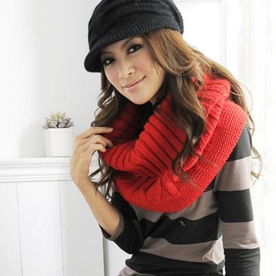 Aimee Toff 暖暖厚板流行加分造型圍脖(紅)