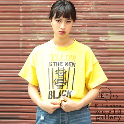 E hyphen 小小兵聯名款-趣味打印圖案短袖T恤/上衣