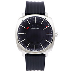 CK Calvin Klein  Highline 特立獨行中性概念腕錶-灰黑/43mm