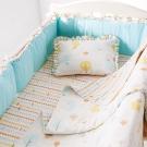 奇哥 快樂森林六層紗6件式寢具組-M
