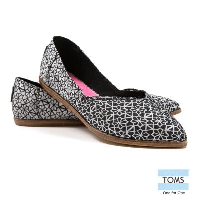 TOMS 緹花平底尖頭鞋-女款