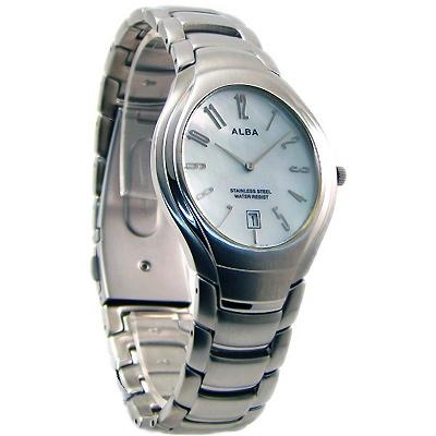 ALBA 雅柏紳士風尚典雅時尚錶-藍/34mm