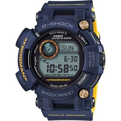 CASIO 卡西歐 G-SHOCK MASTER 海軍蛙人太陽能電波專業潛水錶/59mm