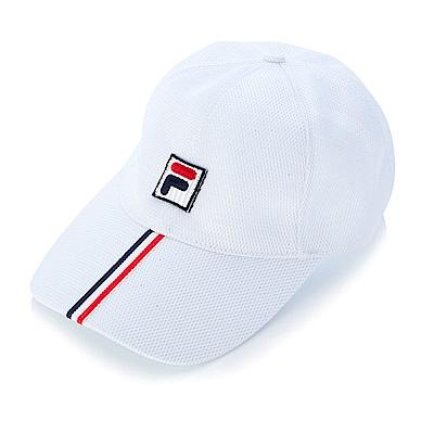FILA 時尚LOGO帽-白 HTS-1003-WT