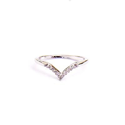 戒指 正韓 銅 鍍K金 簡單 密鑲 尖尖突起 鋯石 線戒 尾戒 耳針 耳環