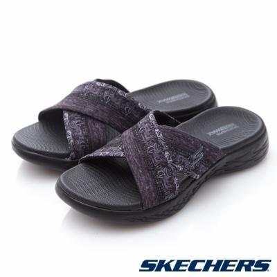 SKECHERS(女)時尚休閒系列ON THE GO 600拖鞋-15306BBK