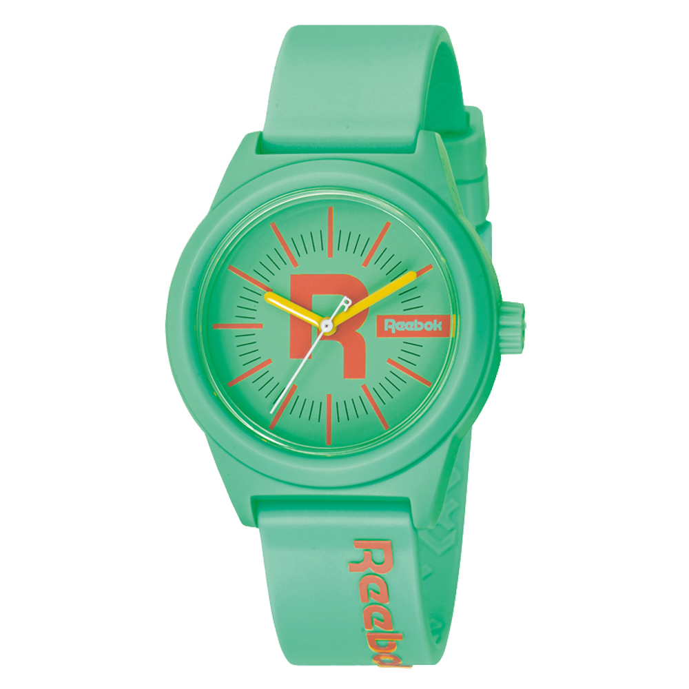 Reebok Drop系列自我主張運動腕錶-橘x粉綠/38mm