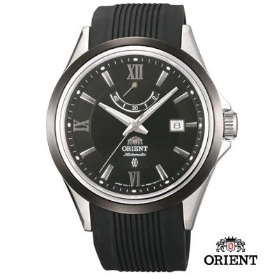 ORIENT 東方錶 POWER RESERVE系列 40小時動能儲存-黑色/42mm