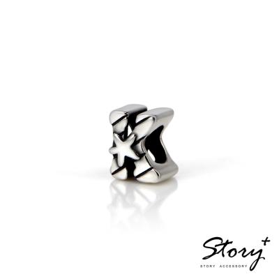 STORY故事銀飾-串珠墜飾-字母珠 K