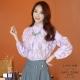 LIYO理優造型上衣花邊立領造型上衣(紫,白