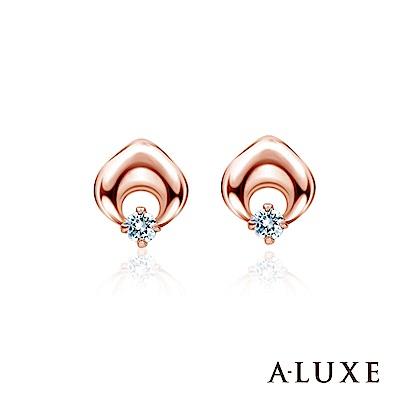 A-LUXE 亞立詩 My Angel 14K玫瑰金 鑽石耳環
